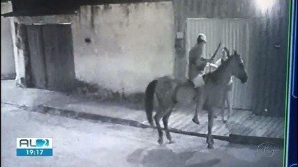Assaltante que cometeu crime montado a cavalo é preso em Maceió