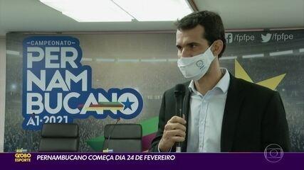 Campeonato Pernambucano começa dia 24 de fevereiro