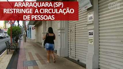 VÍDEO: Araraquara restringe circulação de pessoas para conter variante do coronavírus