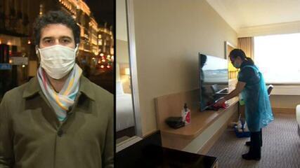 Entra em vigor quarentena em hotéis para britânicos que chegam do exterior