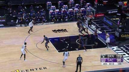 Melhores momentos: Sacramento Kings 125 x 136 Brooklyn Nets pela NBA