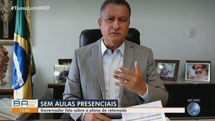 Governador da Bahia, Rui Costa comenta retorno das aulas