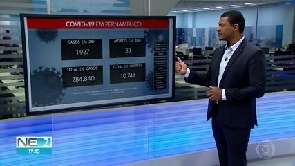 Pernambuco totaliza 284.840 casos da Covid-19 e 10.744 mortes