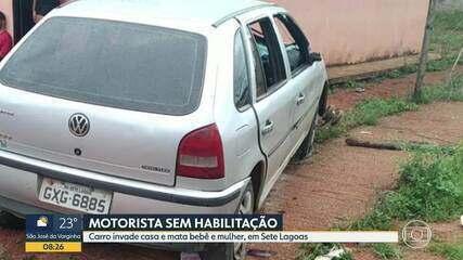 Motorista sem habitação atropela e mata bebê e mulher, em Sete Lagoas