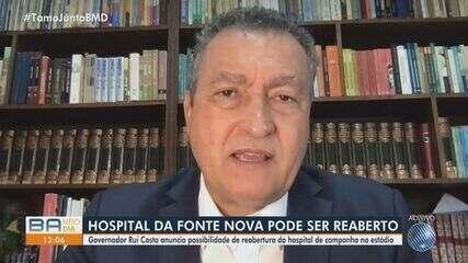 Hospital de campanha na Arena Fonte Nova pode ser reaberto para pacientes com Covid-19