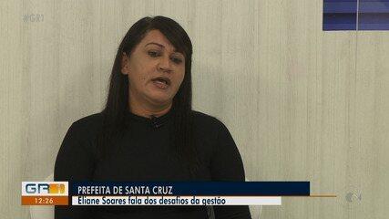Prefeita de Santa Cruz fala sobre planos e desafios da gestão