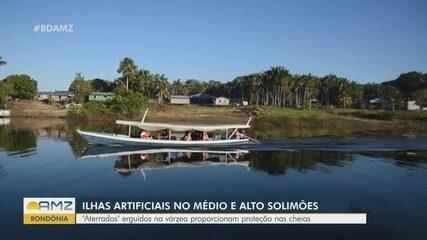 No Médio e Alto Solimões, ilhas artificiais oferecem proteção durante as cheias