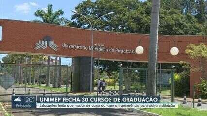 Unimep anuncia fechamento de 30 cursos de graduação em Piracicaba e Santa Bárbara d'Oeste