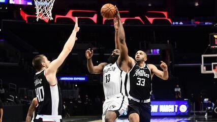 Melhores momentos: Los Angeles Clippers 108 x 112 Brooklyn Nets pela NBA