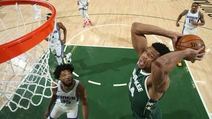 Melhores momentos: Milwaukee Bucks 128 x 115 Sacramento Kings pela NBA