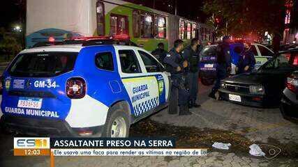 Suspeito de assalto foi preso com faca na Serra