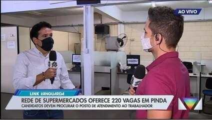 Rede de supermercado abre processo seletivo para 220 postos de trabalho em Pinda