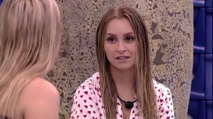 Carla Diaz questiona Viih Tube sobre possível voto em Lumena no BBB21