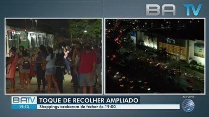 Confira o movimento de volta para casa após ampliação do toque de recolher em Salvador