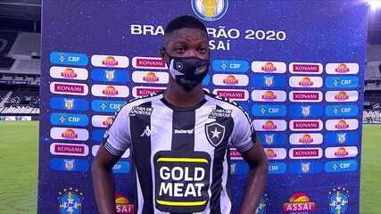 Matheus Babi exalta a vitória do Botafogo sobre o São Paulo