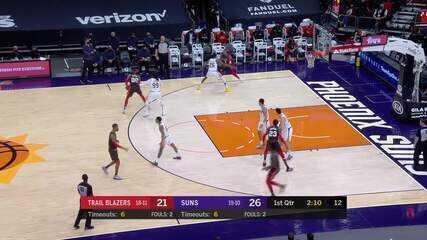 Melhores momentos: Phoenix Suns 132 x 100 Portland Trail Blazers pela NBA