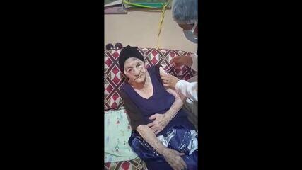 Sobrevivente da Gripe Espanhola, idosa de 113 anos é vacinada contra a Covid-19 em AL