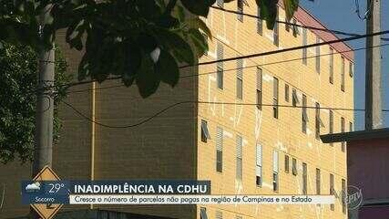 Cresce o número de inadimplentes no CDHU na região de Campinas e no estado