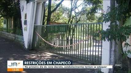 Estabelecimentos de Chapecó tentam se adequar ao novo decreto municipal