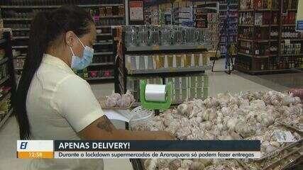Supermercados de Araraquara só podem realizar entregas em meio ao confinamento