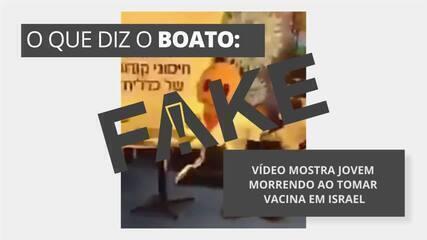 É #FAKE que vídeo mostre jovem morrendo ao tomar vacina em Israel