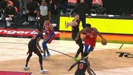 Melhores momentos: Philadelphia 76ers 109 x 102 Toronto Raptors pela NBA