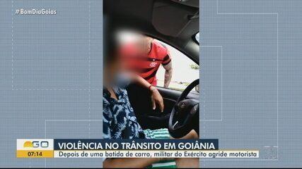 Motorista atira para o alto durante briga de trânsito em Goiânia