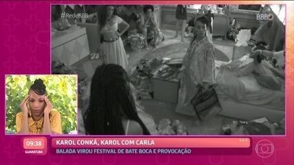Karol Conká revê discussão com Carla Diaz: 'vergonha nacional'