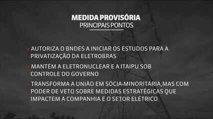 Veja os principais pontos da medida provisória de privatização da Eletrobras