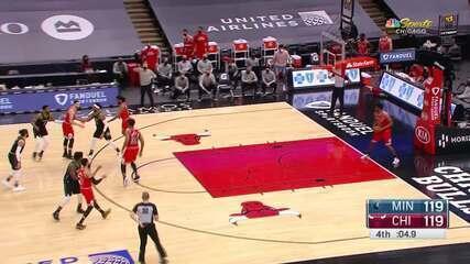 Melhores momentos: Chicago Bulls 133 x 126 Minnesota Timberwolves pela NBA