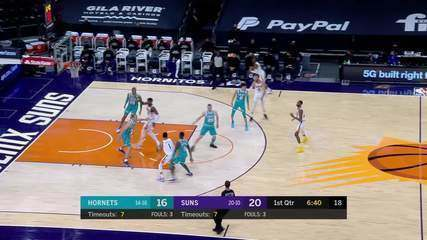 Melhores momentos: Phoenix Suns 121 x 124 Charlotte Hornets pela NBA
