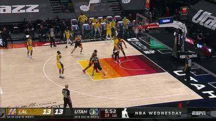 Melhores momentos: Utah Jazz 114 x 89 Los Angeles Lakers pela NBA
