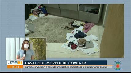 Casal morre de Covid-19 no mesmo dia na PB, e tem casa e oficina invadidas e furtadas