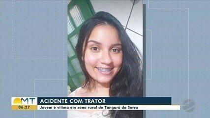 Jovem morre em acidente com trator em Tangará da Serra