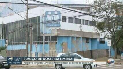 Polícia Civil investiga sumiço de doses de vacina contra Covid-19 em Limeira