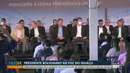 Presidente Jair Bolsonaro participa de lançamento de revitalização em Foz do Iguaçu