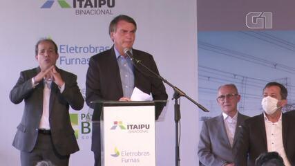 Em visita a Foz do Iguaçu, Bolsonaro disse que estatal tem que ter 'visão de social'