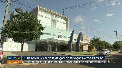 HU pede medidas mais restritas para evitar colapso no sistema de saúde, em Londrina