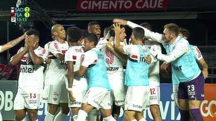 Os gols de São Paulo 2 x 1 Flamengo, pela 38ª rodada do Brasileirão