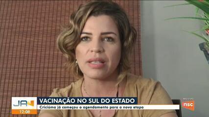 Criciúma começa agendamento de vacinação para a nova etapa de campanha