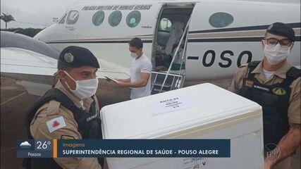 Doses contra a Covid-19 chegam ao Sul de Minas e são distribuídas nas Regionais de Saúde
