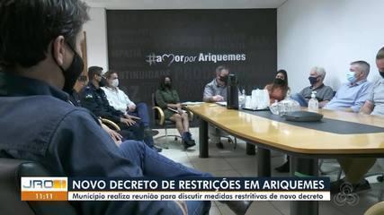 Novo decreto com medidas mais restritivas será publicado em Ariquemes