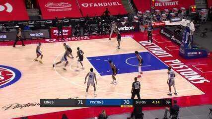 Melhores momentos: Sacramento Kings 110 x 107 Detroit Pistons pela NBA