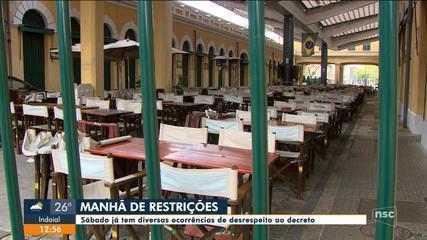 Grande Florianópolis tem flagrantes de desrespeito a decreto de medidas sanitárias
