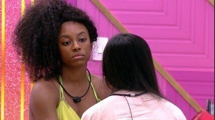Lumena afirma para Juliette no BBB21: 'Quando as pessoas me fazem de otária'