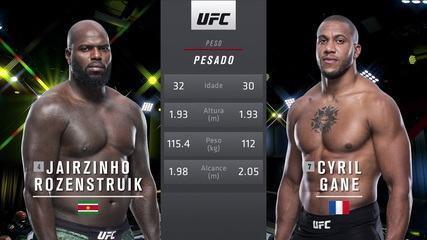 UFC Rozenstruik x Gané - Jairzinho Rozenstruik x Ciryl Gané