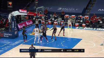 Melhores momentos: Oklahoma City Thunder 96 x 126 Denver Nuggets pela NBA