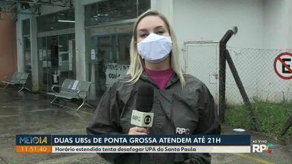 Duas UBSs passam a atender ate 21h em Ponta Grossa