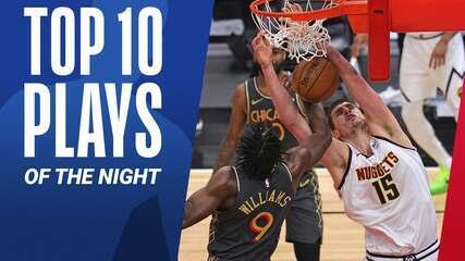 Top 10: As melhores jogadas desta segunda na NBA