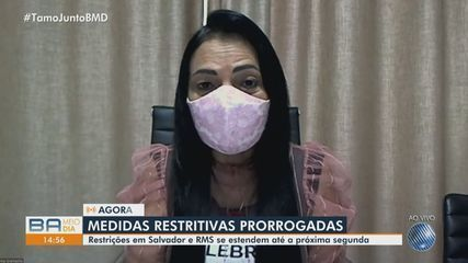 Prefeita de Lauro de Freitas comenta prorrogação de medidas restritivas em Salvador e RMS